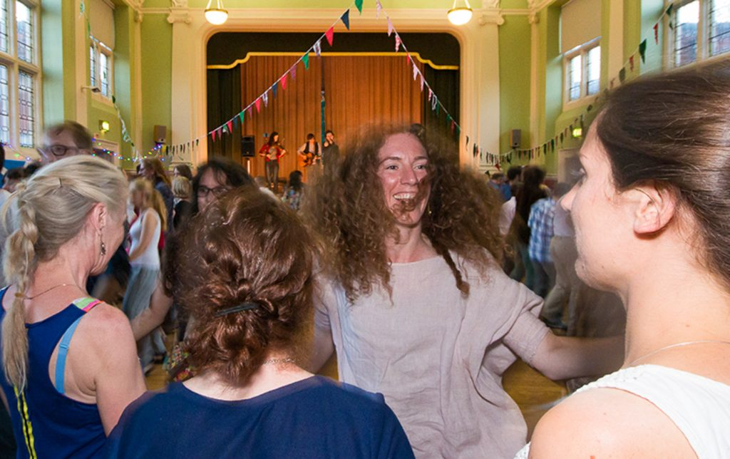 Dancing at the Streatham Festival Ceilidh