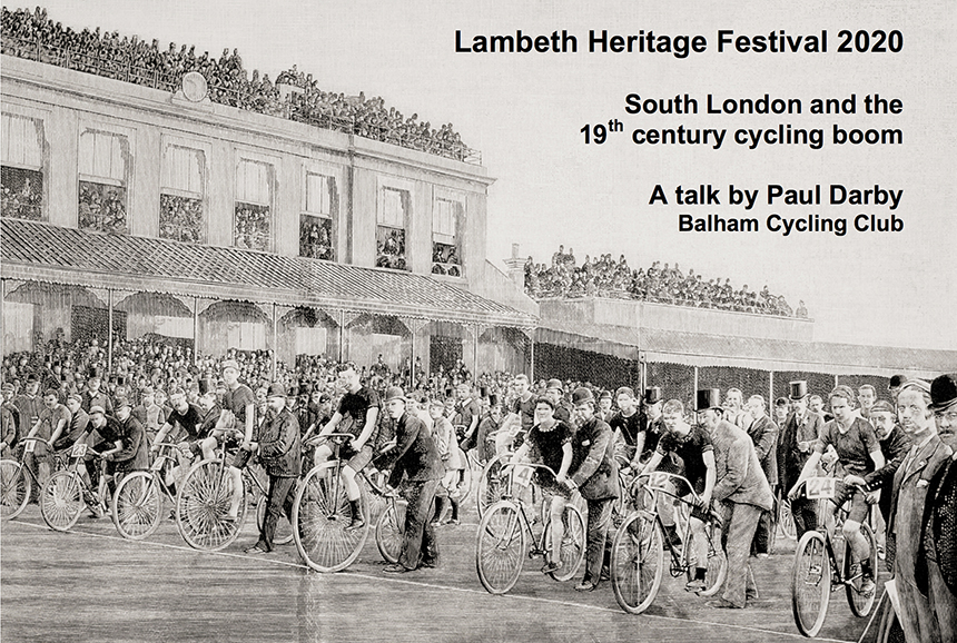 South London and the 19th Century cycling boom (Zoom Talk)