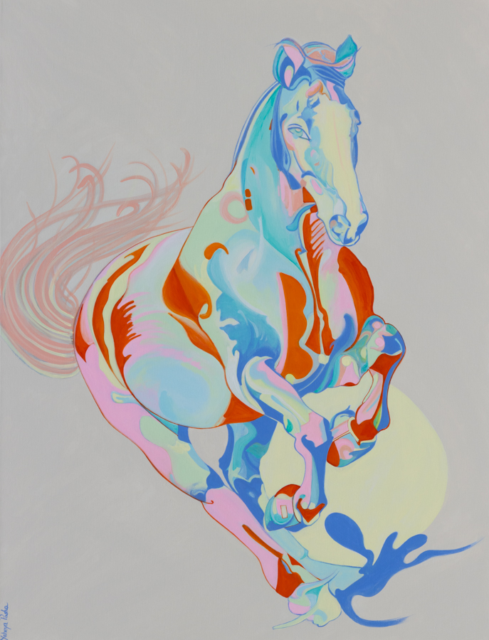Equestrian Painting by Yaheya Pasha