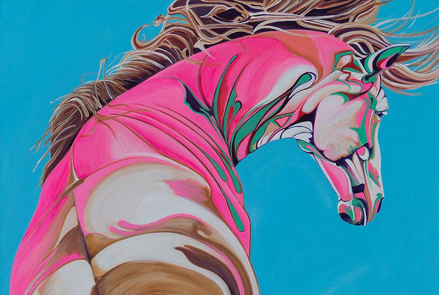 Painting of Horse by Yaheya Pasha